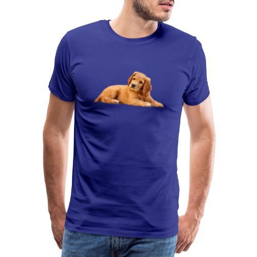 schoenenstelend blafbeest - Mannen Premium T-shirt