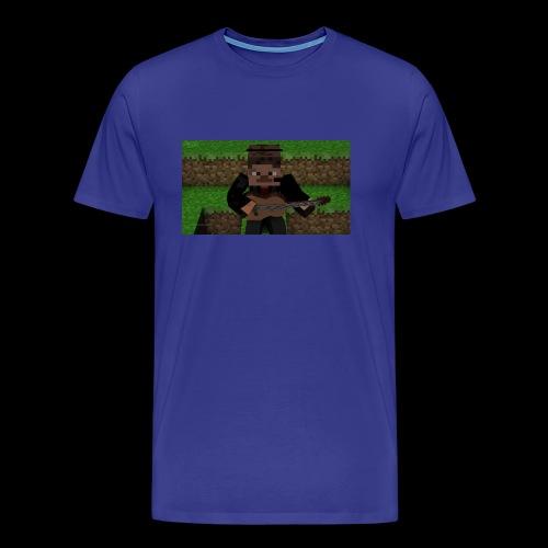 Dannespelar spelar gitarr - Premium-T-shirt herr