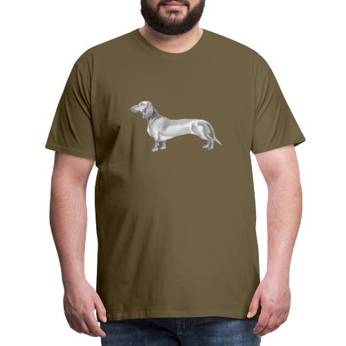 Dachshund smooth haired - Herre premium T-shirt