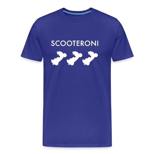 T-shirt SCOOTERONI WHITE - Maglietta Premium da uomo