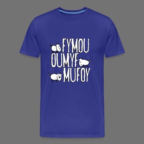 Drie vrienden Fymou, Oumyf en Mufoy - Mannen Premium T-shirt