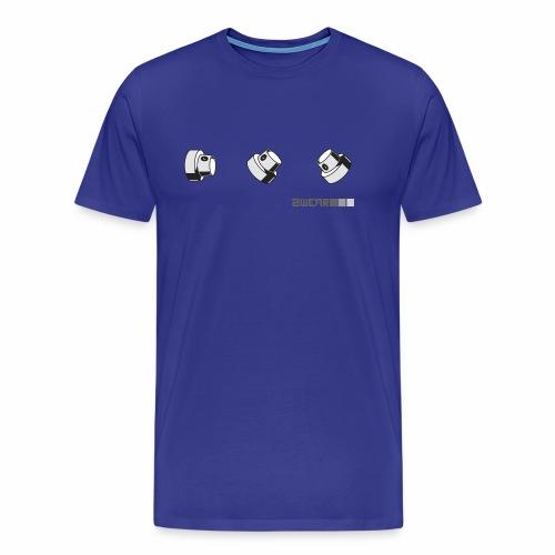 2wear caps street flow ver01 - Herre premium T-shirt