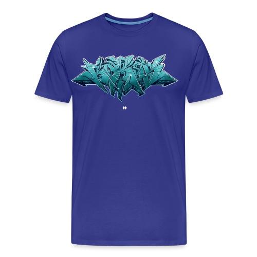 KAROS GRAFFITI SKETCH LILAturquise - Männer Premium T-Shirt