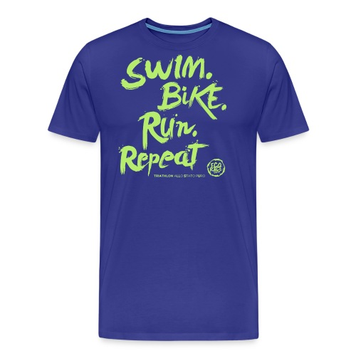 Swim. Bike. Run. Repeat - Maglietta Premium da uomo