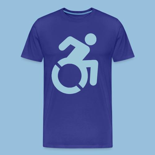 New WheelChair Logo 001 - Mannen Premium T-shirt