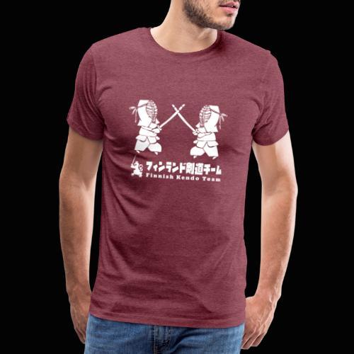 fka team logo white - Miesten premium t-paita