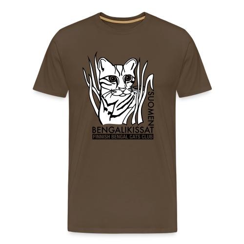 Bengalilogo vaalealle - Miesten premium t-paita