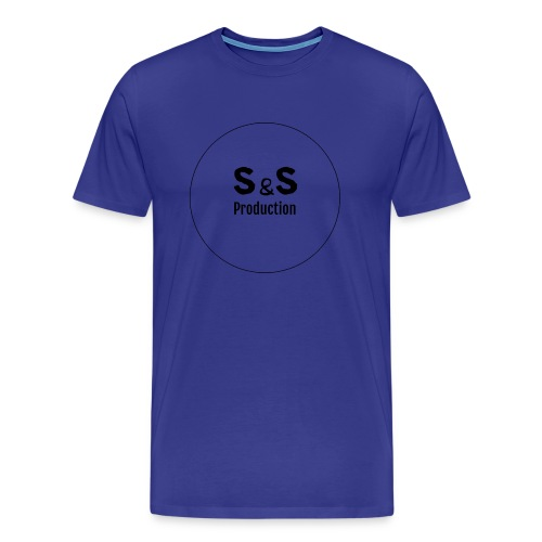 SanS. i-phone 5s hard case. Hvit, svart logo - Premium T-skjorte for menn