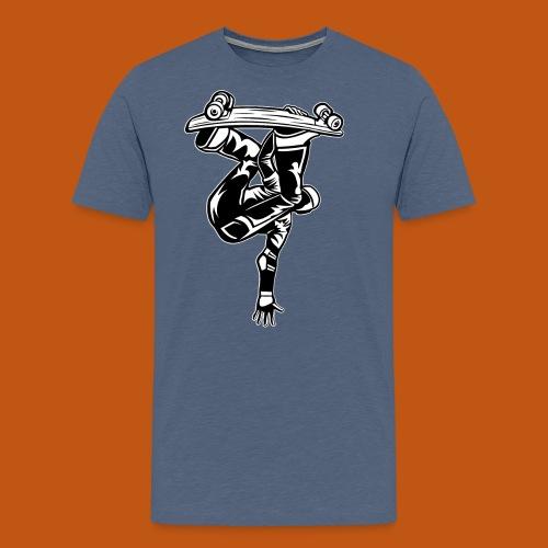 Skater / Skateboarder 03_schwarz weiß - Männer Premium T-Shirt