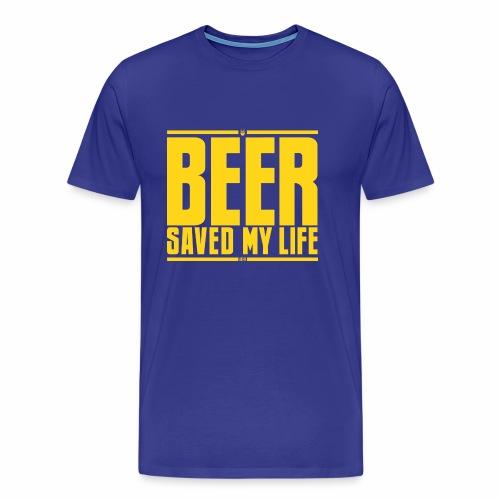 La birra mi ha salvato la vita - Maglietta Premium da uomo