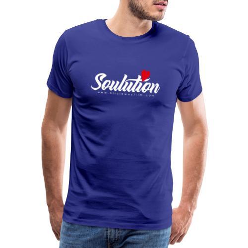Soulution Logo – weiß - Männer Premium T-Shirt