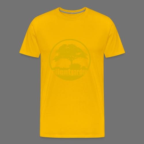 hiljainen puutarha (keltainen) - Miesten premium t-paita