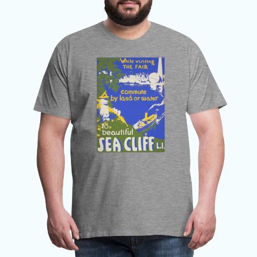 Lake travel vintage poster - Men's Premium T-Shirt