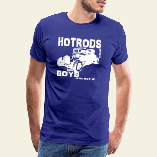 hotrod white - Herre premium T-shirt