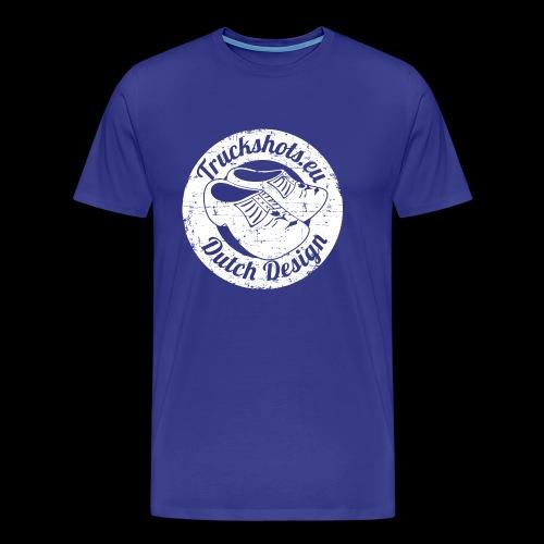 Stamp dutch design with clogs - Men's Premium T-Shirt