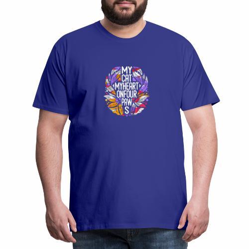 Meine Katze mein Herz vintage colors - Männer Premium T-Shirt