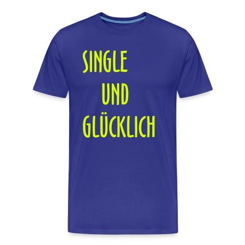 singlegluecklich1 - Männer Premium T-Shirt