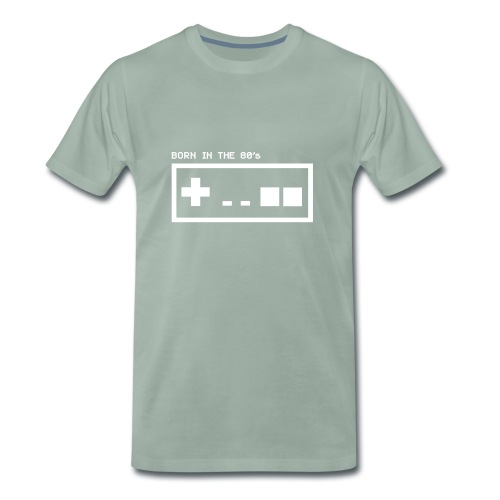 Born in the eighties - retro controller woman - Men's Premium T-Shirt