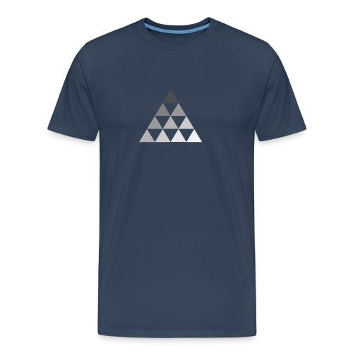 TRIANGLE FADE - Maglietta Premium da uomo