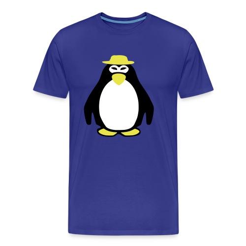 Pinguin mit Hut - Männer Premium T-Shirt