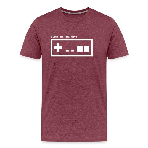 Born in the eighties - retro controller woman - Men's Premium T-Shirt