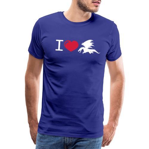 cool i love dragon design - Mannen Premium T-shirt