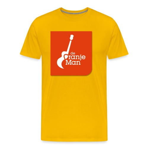 De Oranje Man Wilhelmus Hoekstra Logo Oranje Vlak - Mannen Premium T-shirt