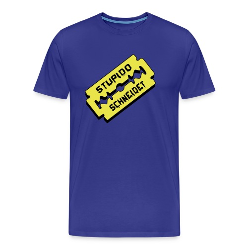 Stupido schneidet Logo - Männer Premium T-Shirt