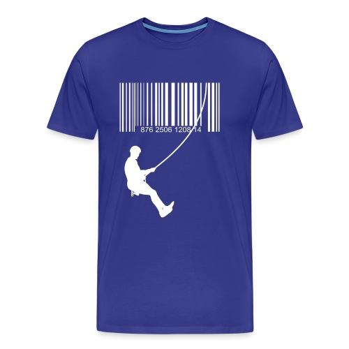 Código de barra y escalante - Camiseta premium hombre