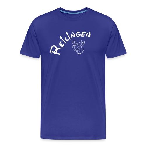 Doppelherz mit Hase - Männer Premium T-Shirt