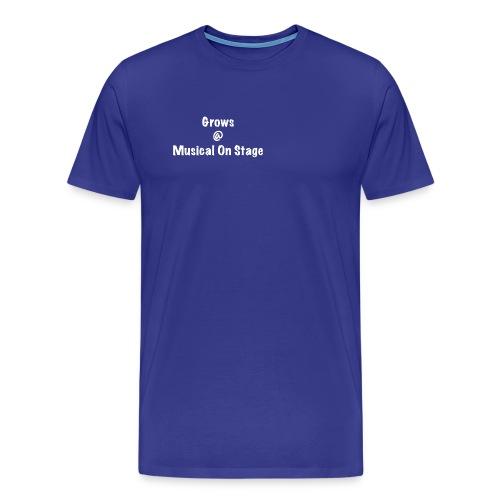 shirt achterkant grows - Mannen Premium T-shirt