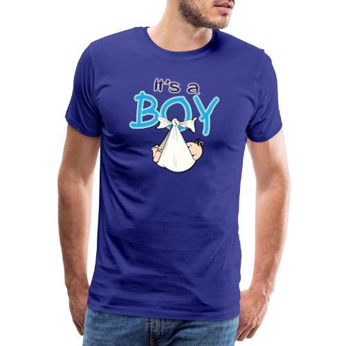 Babyshower Boy Blauw - Mannen Premium T-shirt