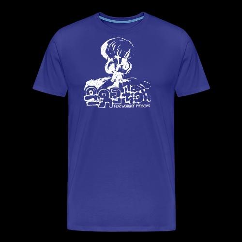 Nie Rozwiązanie (biały oldstyle) - Koszulka męska Premium