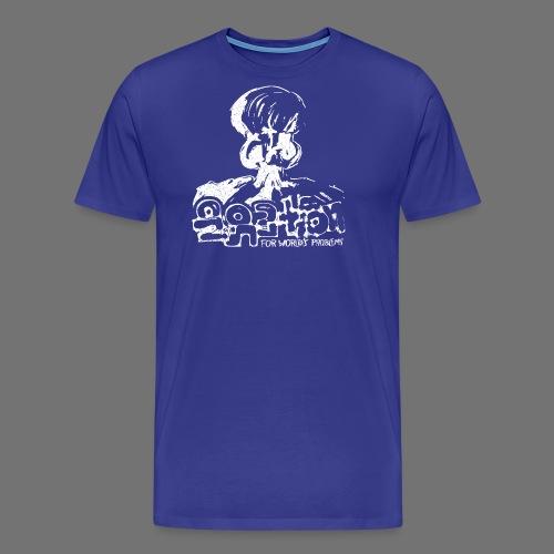Ei ratkaisua (valkoinen oldstyle) - Miesten premium t-paita