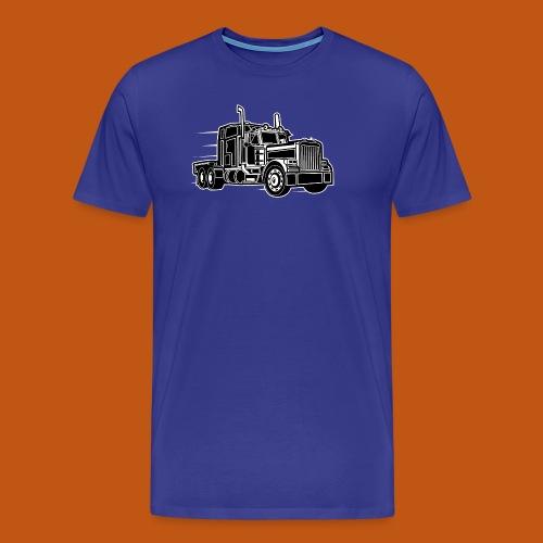 Truck / Lkw 03_schwarz weiß - Männer Premium T-Shirt