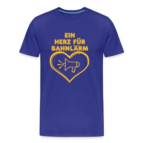 Ein Herz für Bahnlärm - Männer Premium T-Shirt