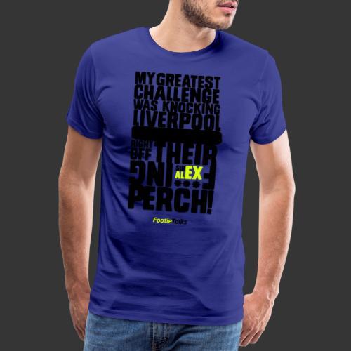 FootieTalks® Sir Alex - Men's Premium T-Shirt