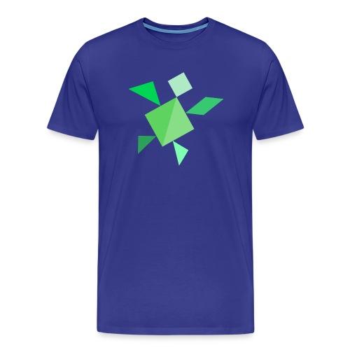 Tangram Schildkröte - Männer Premium T-Shirt