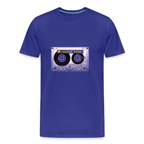 REWIND TIME TAPE - Herre premium T-shirt