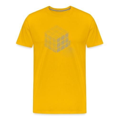 Rubik's Cube Stippling Dotted Cube - Men's Premium T-Shirt