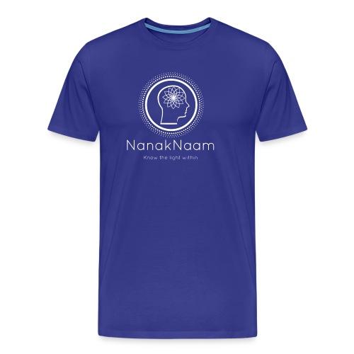 Nanak Naam Logo and Name - White - Men's Premium T-Shirt