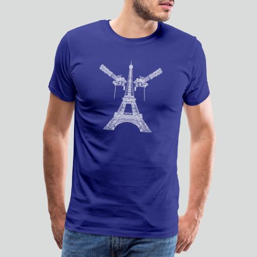 Tour Eiffel Armée (blanche) - T-shirt Premium Homme