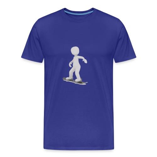 LULU FAIT DU SNOWBOARD - T-shirt Premium Homme