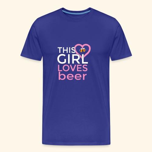 Ragazza birra - Maglietta Premium da uomo