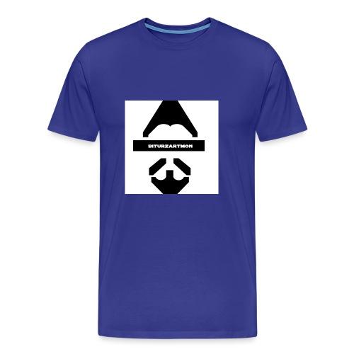 Biturzartmon Logo schwarz/weiss glatt - Männer Premium T-Shirt