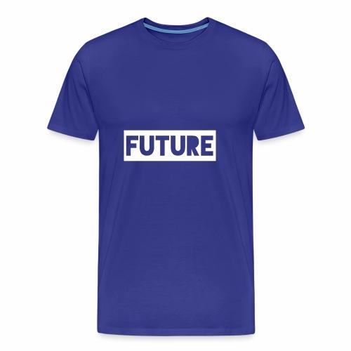 Future Clothing - Text Rectangle (White) - Men's Premium T-Shirt