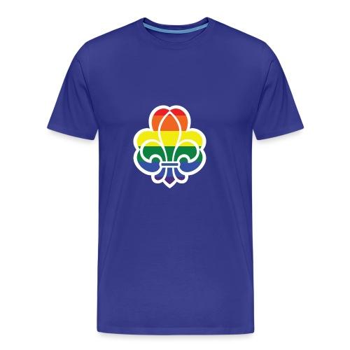 Regnbuespejder jakker og t-shirts mv - Herre premium T-shirt