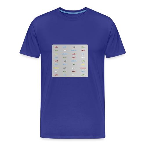 Stroop Test - Männer Premium T-Shirt