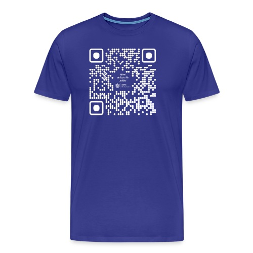 QR The New Internet Should not Be Blockchain Based W - Men's Premium T-Shirt