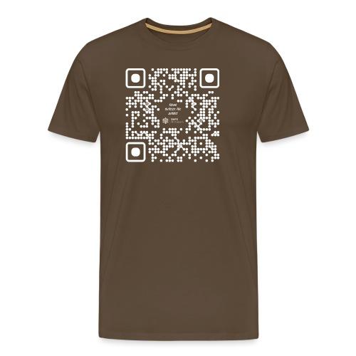 QR The New Internet Should not Be Blockchain Based W - Men's Premium T-Shirt